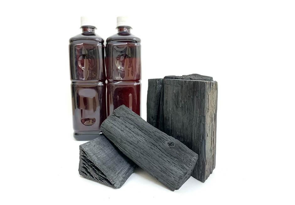 製造された木炭・木酢液